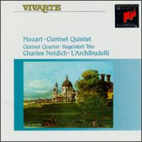 Mozart: Clarinet Quintet; Clarinet Quartet; Kegelstatt Trio - Anner Bylsma (cello); Charles Neidich (clarinet); Jürgen Kussmaul (viola); L'Archibudelli; Lucy van Dael (violin);...