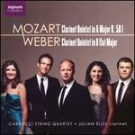 Mozart: Clarinet Quintet in A major, K. 581; Weber: Clarinet Quintet in B flat Major
