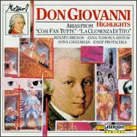 Mozart: Highlights from Don Giovanni & Other Operas - Anna Tomowa-Sintow (soprano); Giuseppe Sabbatini (tenor); Josef Protschka (tenor); NHK Chamber Soloists;...