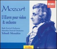 Mozart: L'?uvre pour violon & orchestre - Alberto Lysy (violin); Derek Simpson (cello); Rudolf Barshai (viola); Yehudi Menuhin (violin); Yehudi Menuhin (conductor)