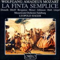 Mozart: La Finta Semplice - Anthony Rolfe Johnson (tenor); Helen Donath (soprano); Jutta-Renate Ihloff (soprano); Robert Holl (bass);...