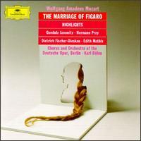 Mozart: Le Nozze di Figaro (Highlights) - Barbara Vogel (vocals); Dietrich Fischer-Dieskau (vocals); Edith Mathis (soprano); Erwin Wohlfahrt (vocals);...