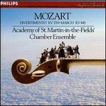 Mozart: March, K445; Divertimento, K334