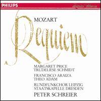 Mozart: Requiem - Francisco Araiza (tenor); Margaret Price (soprano); Theo Adam (bass); Trudeliese Schmidt (mezzo-soprano);...