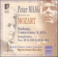 Mozart: Sinfonia Concertante; Symphonies Nos. 25 & 29 - Carlo Romano (oboe); Franco Ferranti (clarinet); Marco Constantini (bassoon); Stefano Aprile (horn);...