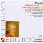 Mozart: Symphonie No. 34; Flötenkonzert No. 1; Szene mit Rondo