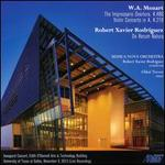 Mozart: The Impressario Overture, K. 486; Violin Concerto in A, K. 219; Robert Xavier Rodr?guez: De Rerum Natura