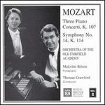 Mozart: Three Piano Concerti, K. 107; Symphony No. 14