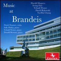Music at Brandeis - Daniel Stepner (violin); Donald Berman (piano); Sally Pinkas (piano); Yehudi Wyner (piano)
