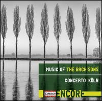 Music of the Bach Sons - Concerto Köln; Gerald Hambitzer (harpsichord); Werner Ehrhardt (conductor)