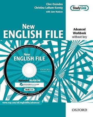 New English File: Advanced: Workbook (without key) with MultiROM Pack: Six-level general English course for adults - Oxenden, Clive, and Latham-Koenig, Christina, and Hudson, Jane