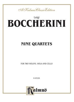 Nine Selected String Quartets - Boccherini, Luigi (Composer)