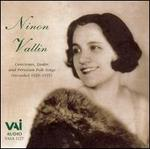 Ninon Vallin sings Canciones, Lieder and Peruvian Folk Songs