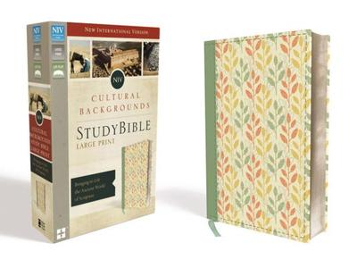 NIV, Cultural Backgrounds Study Bible, Large Print, Imitation Leather, Green, Red Letter Edition: Bringing to Life the Ancient World of Scripture - Keener, Craig S (Editor), and Walton, John H (Editor)