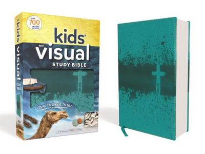 Niv, Kids' Visual Study Bible, Leathersoft, Teal, Full Color Interior: Explore the Story of the Bible---People, Places, and History - Zondervan