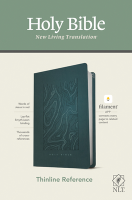 NLT Thinline Reference Bible, Filament Enabled Edition (Red Letter, Leatherlike, Teal Blue) - Tyndale (Creator)