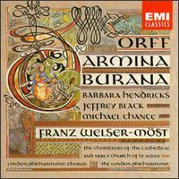 Orff: Carmina Burana - Barbara Hendricks (soprano); Gareth Roberts (baritone); Jeffrey Black (baritone); Laurence Whitehead (baritone);...