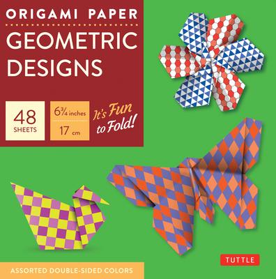 """Origami Paper Geometric Prints 6 3/4"""" 49 Sheets - Tuttle Publishing"""