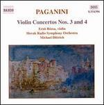 Paganini: Violin Concertos Nos. 3 & 4