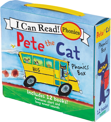Pete the Cat 12-Book Phonics Fun!: Includes 12 Mini-Books Featuring Short and Long Vowel Sounds - Dean, Kimberly