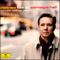 Pletnev Live at Carnegie Hall - Mikhail Pletnev (piano)