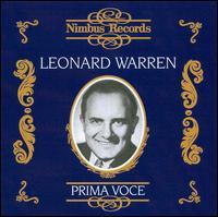 Prima Voce: Leonard Warren - Astrid Varnay (vocals); Jan Peerce (tenor); Leonard Warren (baritone); Raymond Keast (vocals); Zinka Milanov (vocals);...