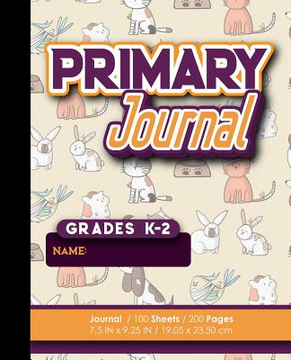 Primary Journal: Grades K-2: Draw And Write Book, Primary Journal Notebooks, 100 Sheets, 200 Pages, Cute Veterinary Animals Cover - Publishing, Moito