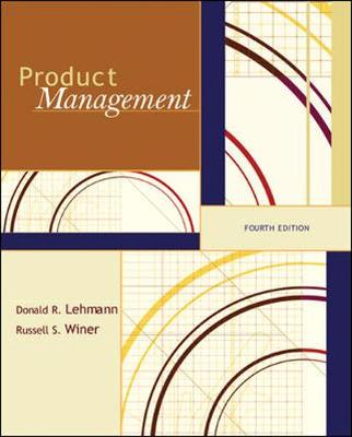 Product Management - Lehmann, Donald R, and Winer, Russell S