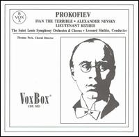 Prokofiev: Ivan the Terrible; Alexander Nevsky; Lieutenant Kizheh - Arnold Voketaitis (bass); Claudine Carlson (mezzo-soprano); Samuel Timberlake (bass);...