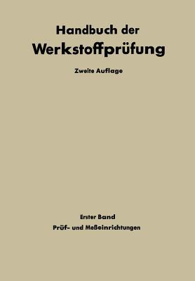 Pruf- Und Messeinrichtungen - Siebel, Erich (Editor)