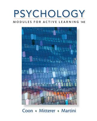 Psychology: Modules for Active Learning - Coon, Dennis, and Mitterer, John O, and Martini, Tanya S