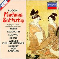 Puccini: Madama Butterfly Highlights - Christa Ludwig (vocals); Luciano Pavarotti (tenor); Michel S�n�chal (vocals); Mirella Freni (vocals); Robert Kerns (vocals);...