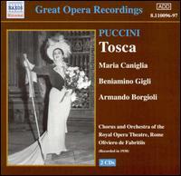 Puccini: Tosca - Armando Borgioli (vocals); Arthur Endreze (vocals); Beniamino Gigli (tenor); Enrico di Mazzei (vocals);...