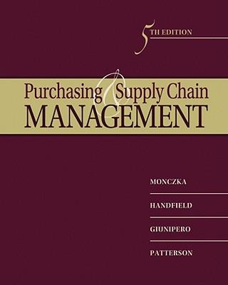 Purchasing and Supply Chain Management - Monczka, Robert M