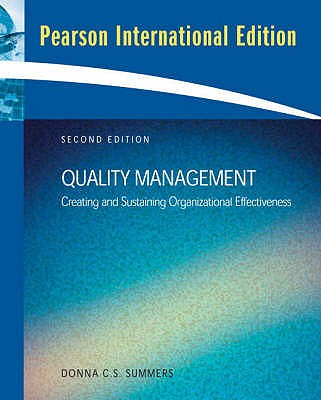 Quality Management: International Edition - Summers, Donna C. S.