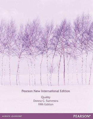 Quality: Pearson New International Edition - Summers, Donna