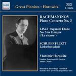 "Rachmaninov: Piano Concerto No. 3; Liszt: Pagaini Etude No. 5 ""La chasse""; Schubert-Liszt: Liebesbotschaft"