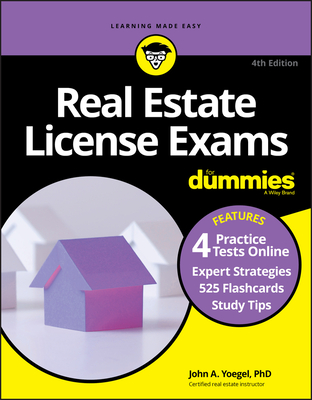 Real Estate License Exams for Dummies with Online Practice Tests - Yoegel, John A