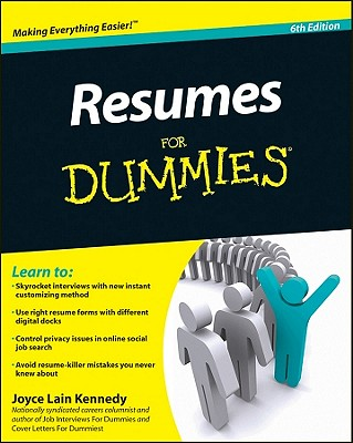 Resumes for Dummies - Kennedy, Joyce Lain
