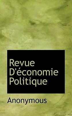 Revue D' Conomie Politique - Anonymous