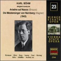 Richard Strauss: Ariadne auf Naxos; Wagner: Die Meistersinger von Nürnberg - Alda Noni (vocals); Alfred Muzzarelli (vocals); Elisabeth Rutgers (vocals); Emmy Loose (vocals); Erich Kunz (vocals);...