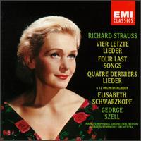Richard Strauss: Vier letzte Lieder; Orchesterlieder - Edith Peinemann (violin); Elisabeth Schwarzkopf (soprano); George Szell (conductor)