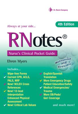 Rnotes?: Nurse's Clinical Pocket Guide - Myers, Ehren, RN