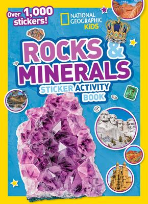 Rocks and Minerals Sticker Activity Book - Kids, National