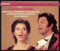 Rossini: Il barbiere di Siviglia - Agnes Baltsa (mezzo-soprano); Domenico Trimarchi (baritone); Francisco Araiza (tenor); John Noble (baritone); Matthew Best (bass); Nicholas Kraemer (fortepiano); Robert Lloyd (bass); Sally Burgess (mezzo-soprano); Thomas Allen (baritone)