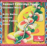 Samuel Coleridge-Taylor: Chamber Music - Andrew Harley (piano); Brooks Whitehouse (cello); Craig Brown (double bass); Janet Orenstein (violin); John Fadial (violin);...