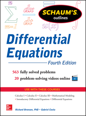 Schaum's Outline of Differential Equations - Bronson, Richard, and Costa, Gabriel