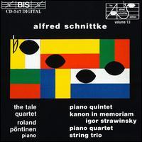 Schnittke: Piano Quintet, String Trio, etc. - Helena Nilsson (cello); Ingegerd Kierkegaard (viola); Patrik Swedrup (violin); Roland Pöntinen (piano); Tale Quartet