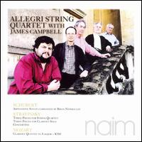 Schubert: Arpeggione Sonata; Stravinsky: Three Pieces for String Quartet; Three Pieces  - Allegri Quartet / James Campbell