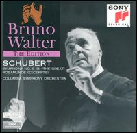 """Schubert: Symphony No. 9 """"The Great""""; Rosamunde (Excerpts) - Columbia Symphony Orchestra; Bruno Walter (conductor)"""